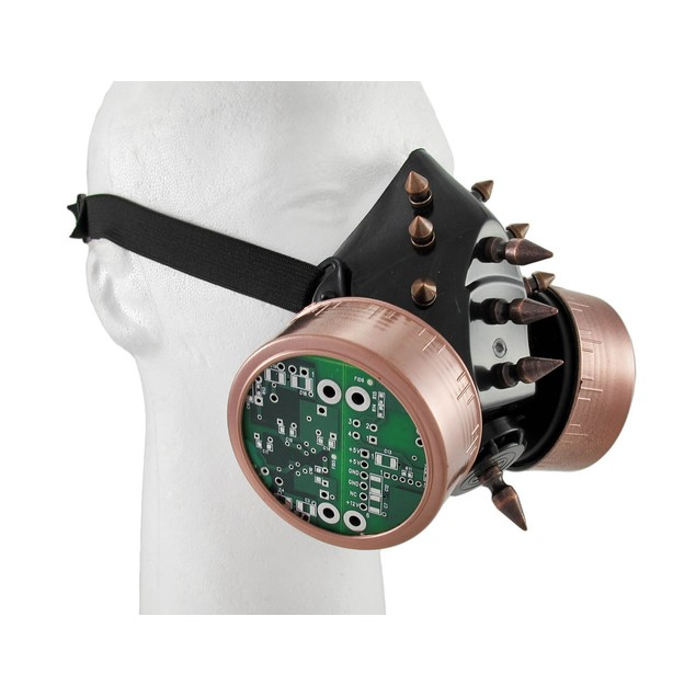 Steampunk Copper / Black Cyber Respirator Mask Mens Costume Masks