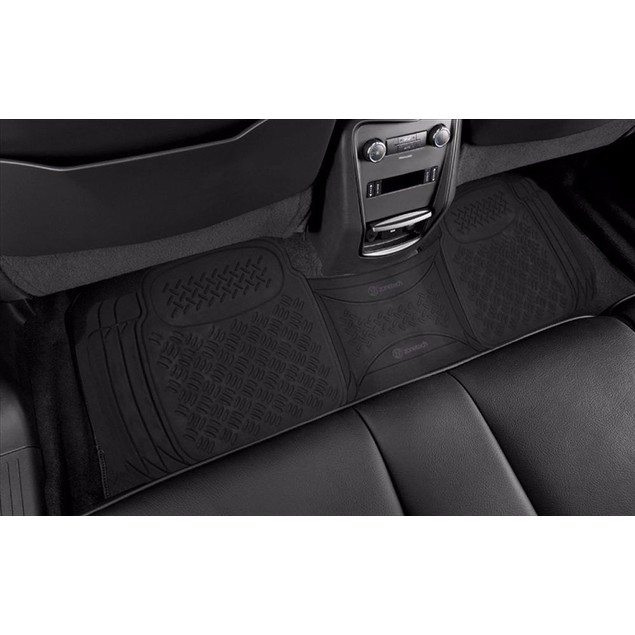 Zone Tech Heavy Duty Black Rubber Trimmable Floor Mat