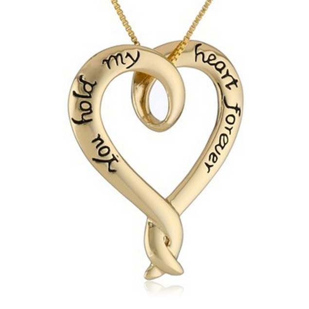 Forever Heart Necklace in Gold or Silver