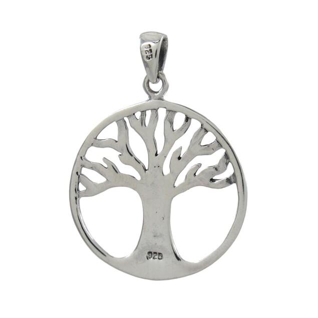 Cutout Tree Of Life Sterling Silver Pendant Womens Pendants