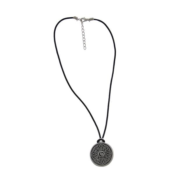 Celtic Wisdom Triple Moon Pewter Pendant 16 In. Womens Pendant Necklaces