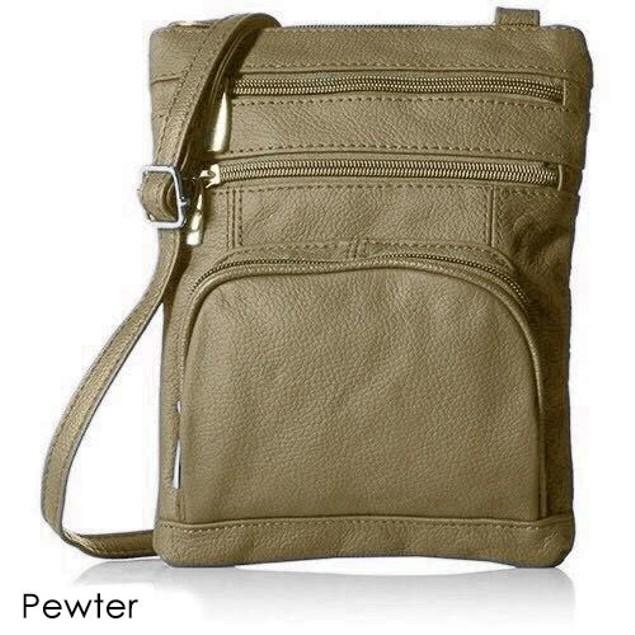 Super Soft Leather Crossbody Bag - 8 Color Choices