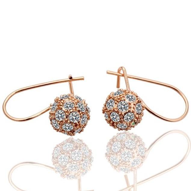Gold Plated Austrian Crystal Dangle Earrings
