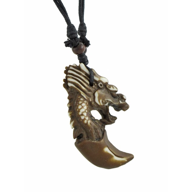 Dragon Head/Claw Pendant On Black Cord Necklace Womens Pendant Necklaces