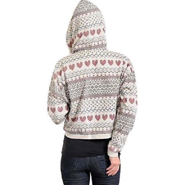 LA Kitty Zip Up Cropped Hooded Sweatshirt