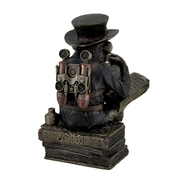 Hand Painted Steampunk Scholar Chimpanzee Fantasy Statues