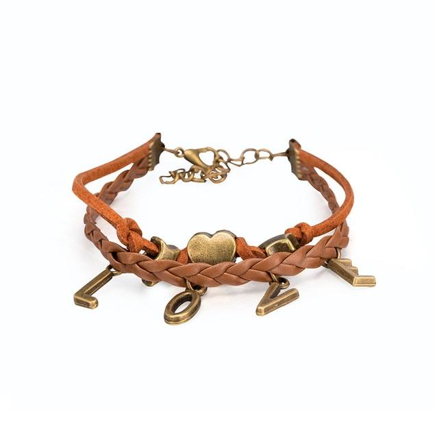 Beige Bronze Love Intertwined Bracelet