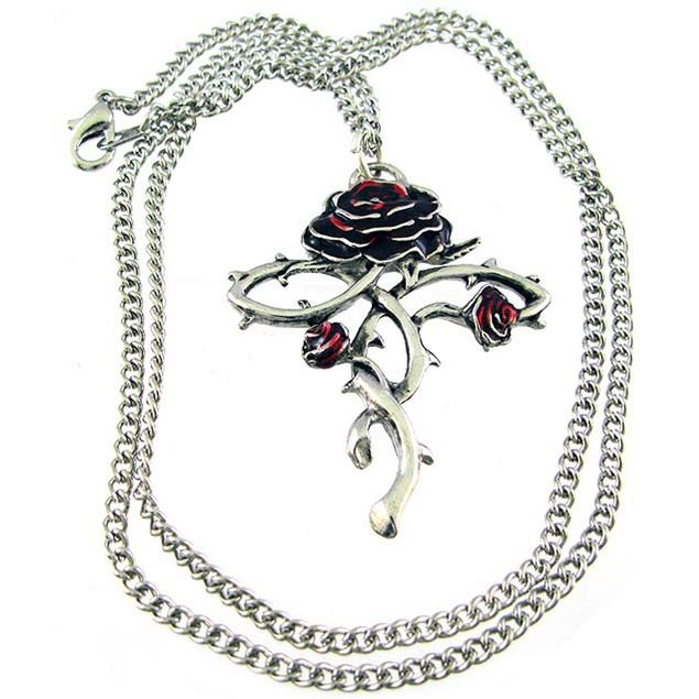 `Rosycroix` Rose Cross Pendant / Necklace Talisman Mens Pendant Necklaces