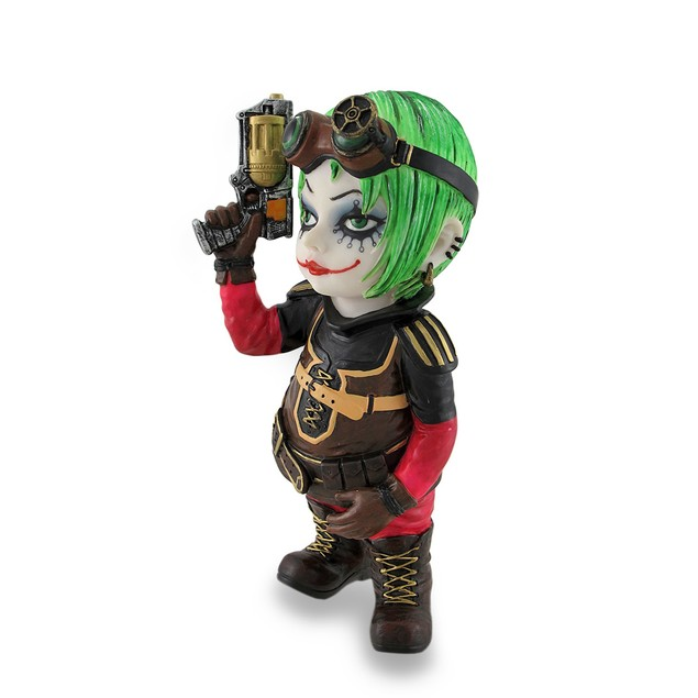 Cosplay Kids Mini Steampunk Girl W/Revolver Statue Statues