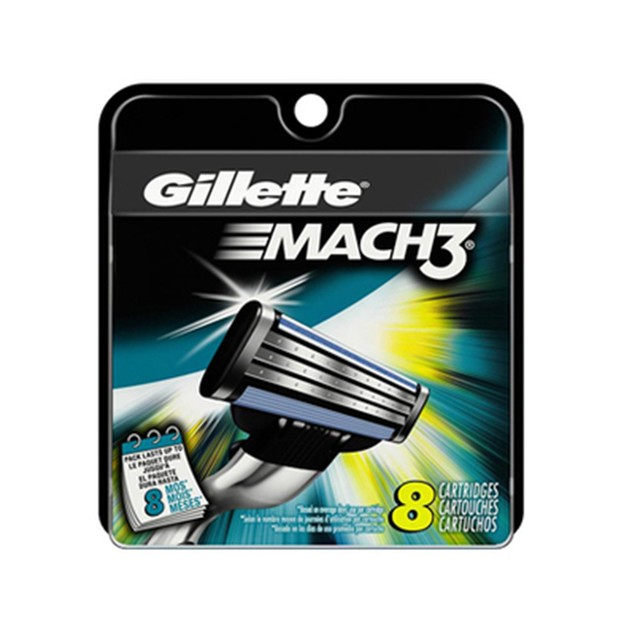 8-Pack Gillette Mach3 Razor Refill Cartridges