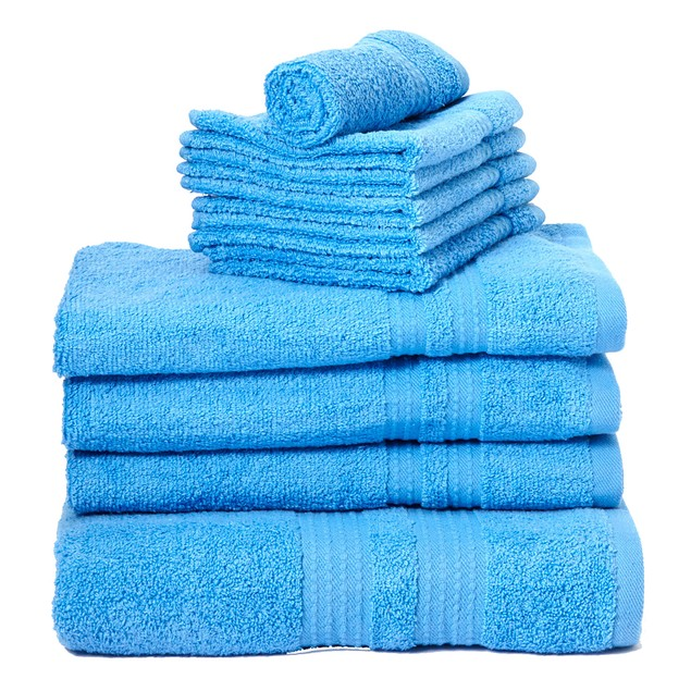 10-Piece Superior 900 Gram 100% Cotton Towel Set