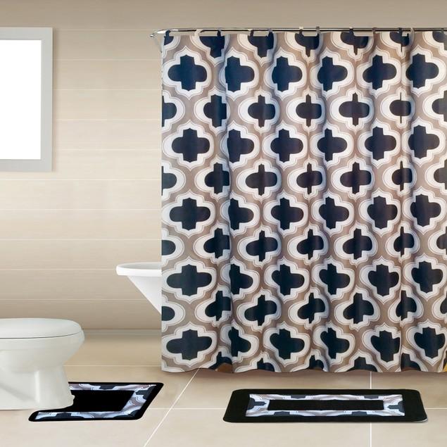 15-Piece Bath Boutique Polyester Bathroom Set