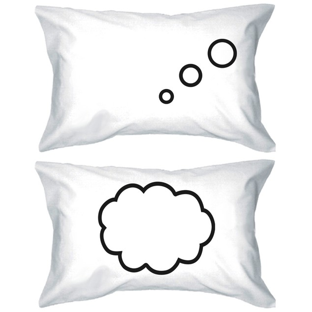 Thinking Cloud Matching Couple Pillowcase