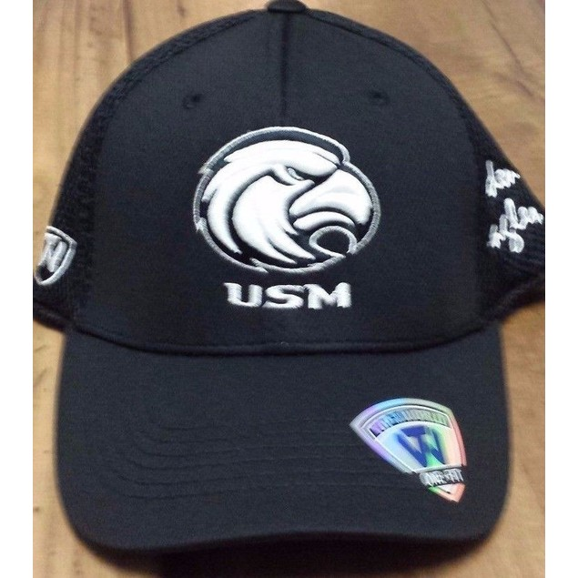 "Southern Miss Golden Eagles NCAA TOW ""Fairway"" Stretch Fitted Hat New"
