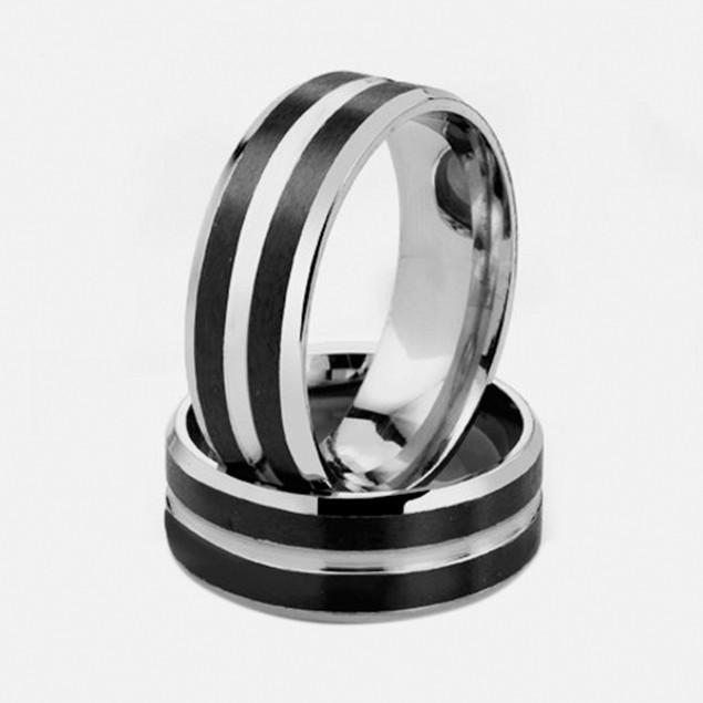 Stainless Steel Ring - Bold Grid