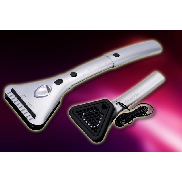 Zone Tech Heated Car Window Snow Ice Scraper with LED Light Extendable 12V
