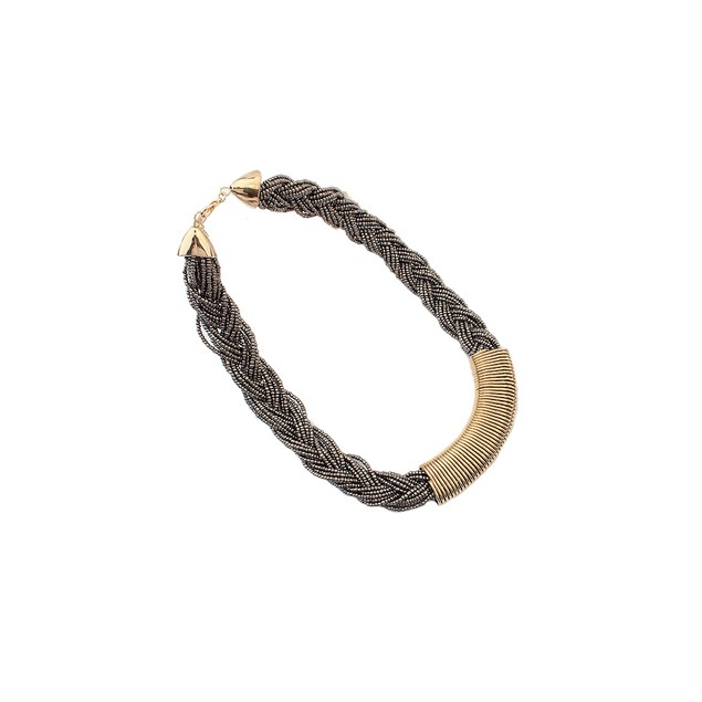 """Glory"" Statement Necklace - Bronze"