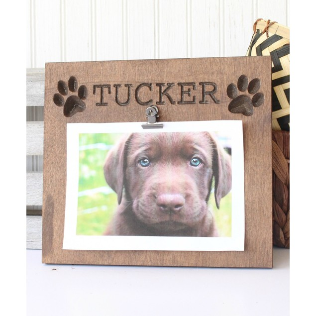 "Personalized Dog Name Photo Plaque, 9"" x 7"" - 2 Styles"