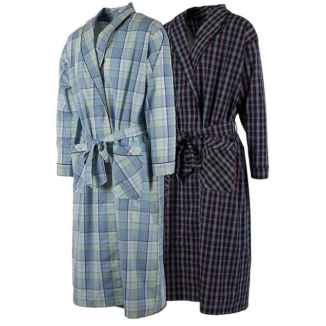 2-Pack Men's Andrew Scott Cotton Lightweight Robe (S-5X)
