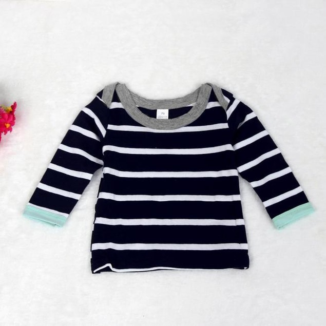 Baby Boys Stripe Long Sleeve Tops, Long Pants, Hat Set
