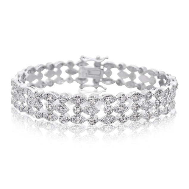 Three Row Diamond Bracelet 1.20cttw