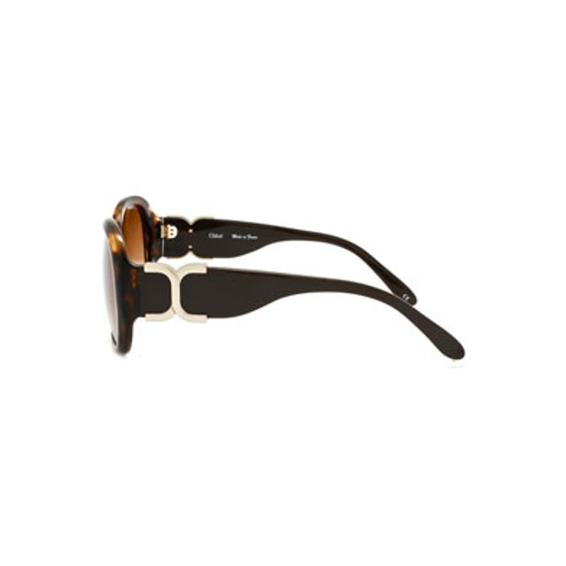 Chloe Marcie Fashion Sunglasses - Dark Tortoise Shell