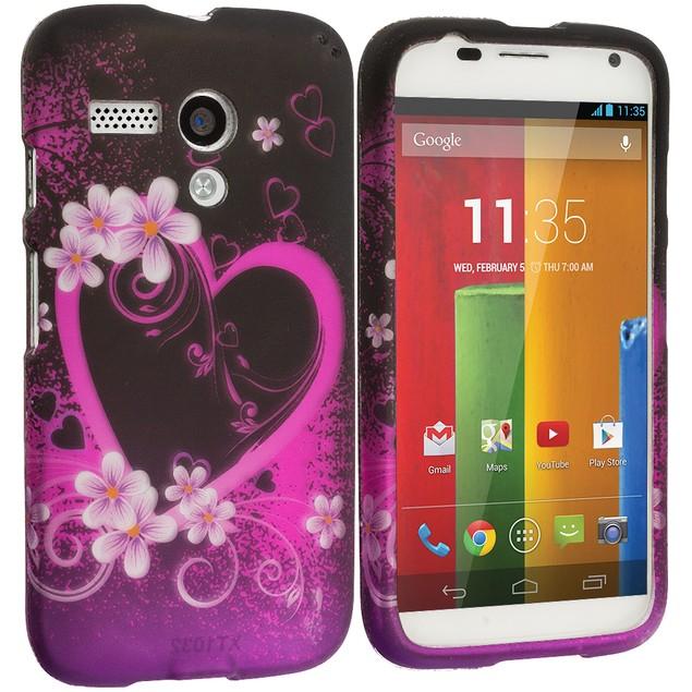 Motorola Moto G Hard Rubberized Design Case Cover
