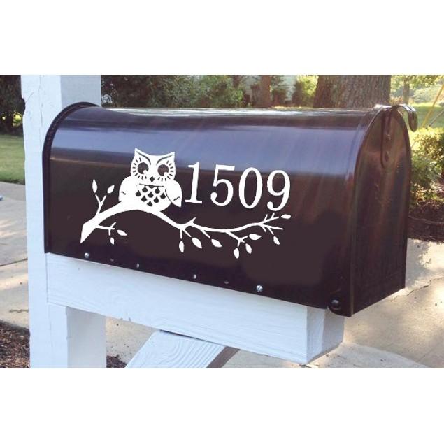 Owl Vinyl Mailbox Decal Design 27