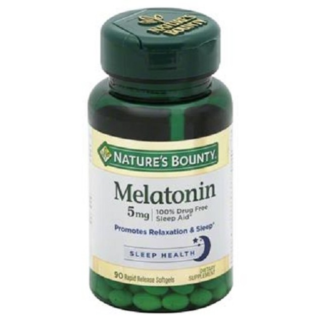 Nature's Bounty Melatonin 5 mg Super Strength Softgel