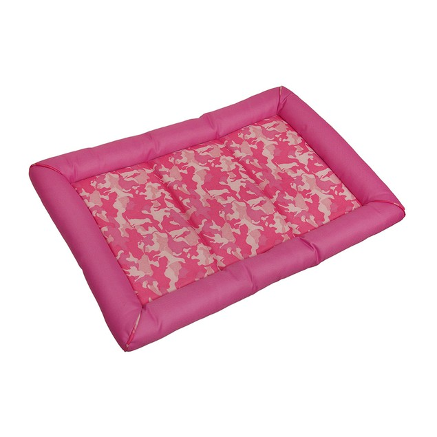 Snoozy Durable Pink Canine Camouflage Dog Crate Pet Beds
