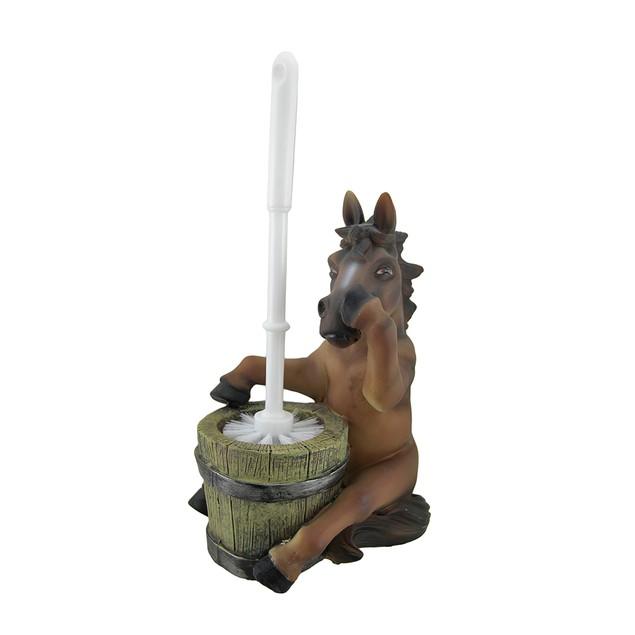 Nose Holding Horse Helper Toilet Brush And Holder Toilet Brushes