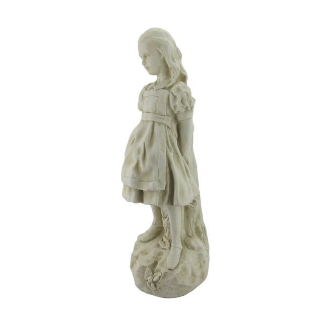White Alice In Wonderland White Rabbit, Mad Outdoor Statues