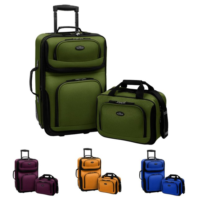 """U.S Traveler Rio Two Piece Expandable Carry-on Luggage Set (15"""" & 21"""")"""