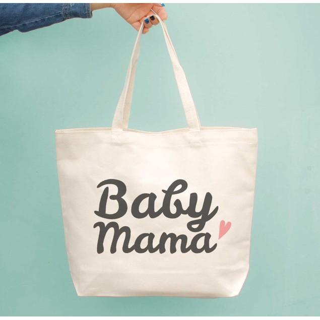 Baby Mama Diaper Canvas Bag