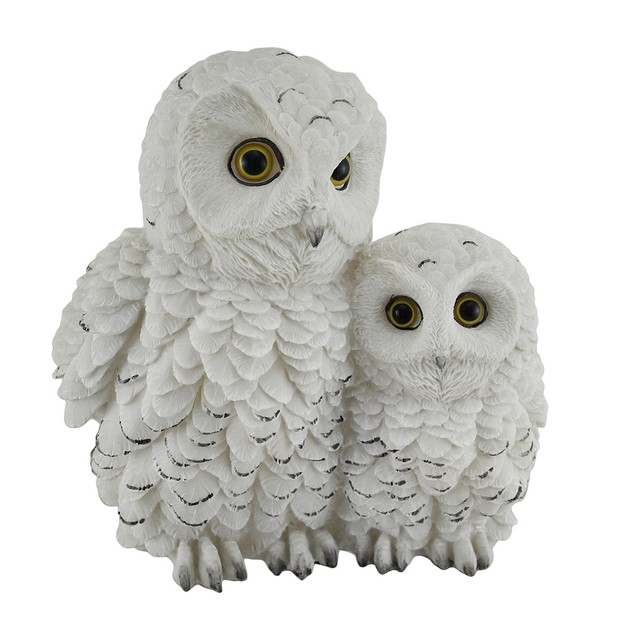 Owl Always Love You Snowy Owl Mother And Owlet Statues
