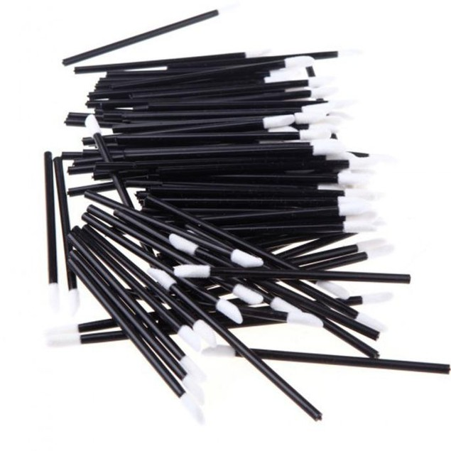 100-Pack Disposable Make-Up Lip Brush Lipstick Tool