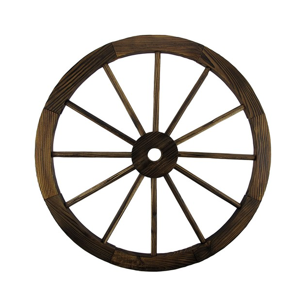 Wooden Wagon Wheel Decorative Wall Hanging Room Wall Sculptures