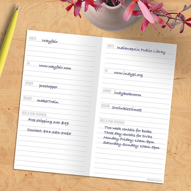 Password & Website Notebooks
