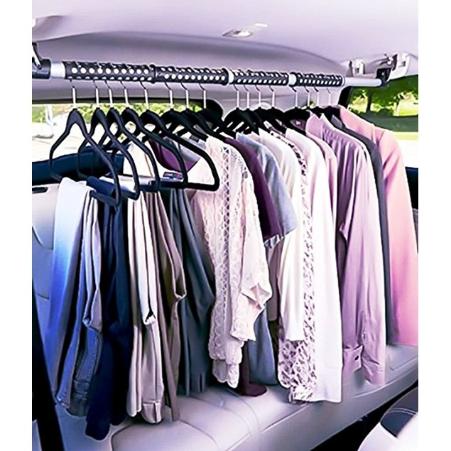 Zone Tech Expandable Car Clothes Hanger Clothing Rod Bart Garment Rack