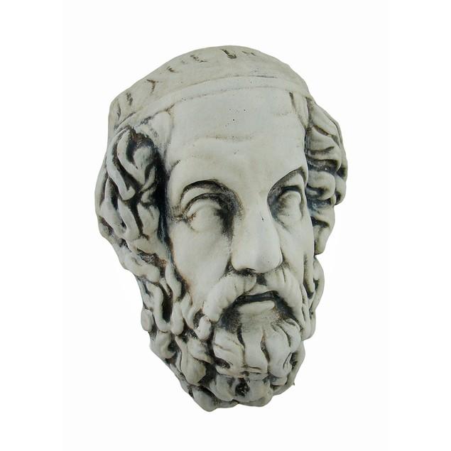 Head Of Erasmus Antique Finish Museum White Wall Sculptures