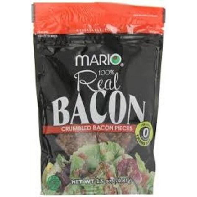 MARIO CRUMBLED BACON PIECES 2.5 OZ BAG