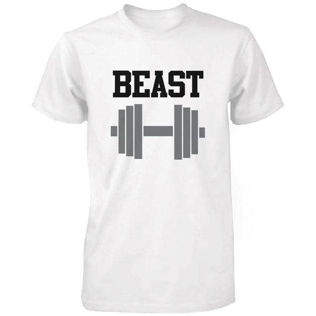 WHITE Beauty & Beast Couple T-shirt (Two Shirts)  Matching Couple T-Shirts