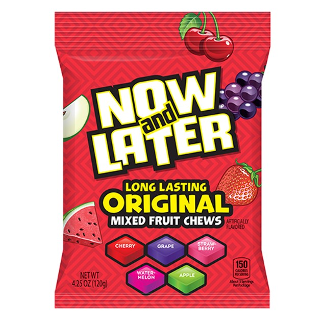 Now and Later Long Lasting Original Mixed Fruit Chews 2 Bag Pack