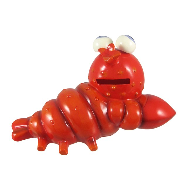 Red Bobble Eyed Lobster Coin Bank Toy Banks