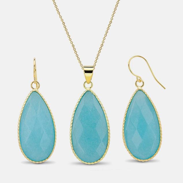 60 Carat Gemstone Earring & Pendant Set