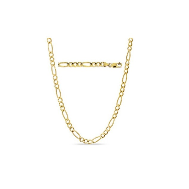 Solid 14K Gold Figaro Chain