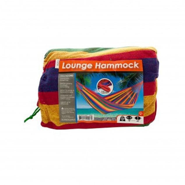 Cotton Canvas Multi-Colored Lounge Hammock