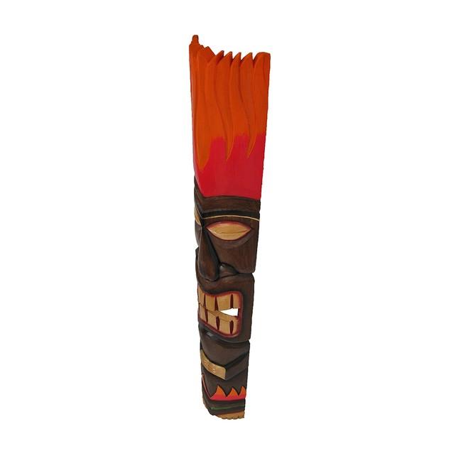 Red/Orange Tiki Totem Wall Decoration Decorative Masks