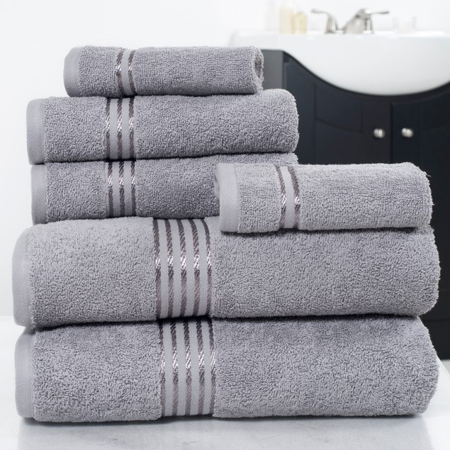 Lavish Home 6-Piece 100% Cotton Hotel Towel Set