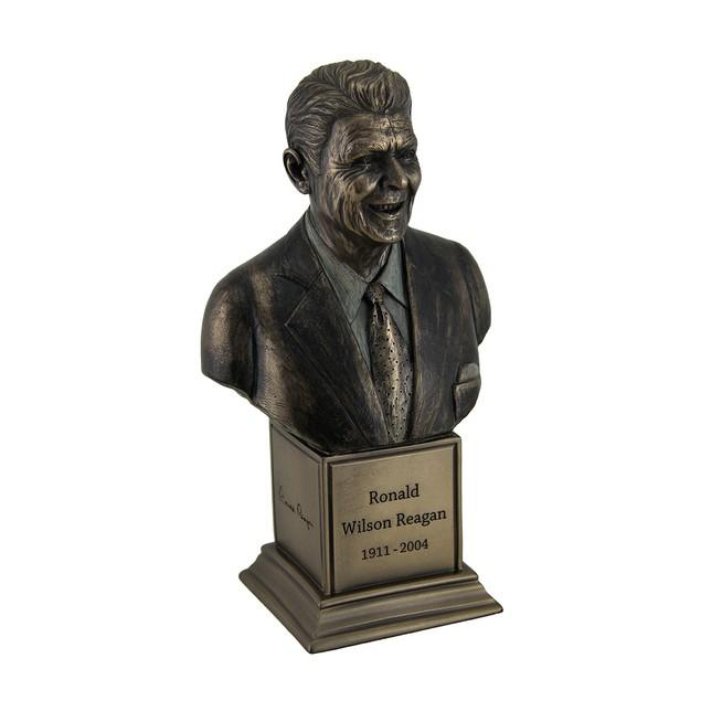Ronald Wilson Reagan Bronze Finish Statue On Bust Sculptures